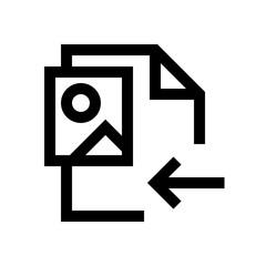 Picture file mini line, icon