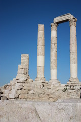 Citadel hill in Amman, Temple of Hercules, Jordan Middle East