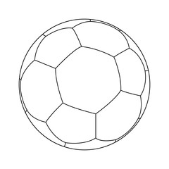 Sketch of football (soccer) ball.