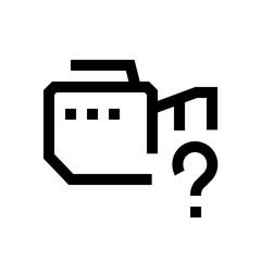 Video camera mini line, icon