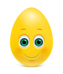 Easter Smiling Egg, Emoticon, Emoji