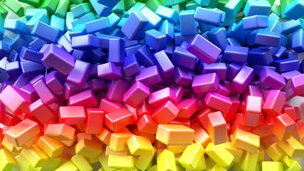 Rainbow background. 3d rendering, 3d illustration.