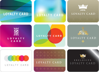 collection of generic loyalty cards