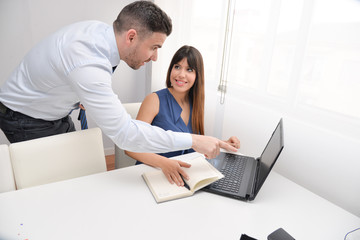 people working with computer