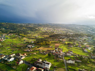 Aerial view of a rural area in Spain