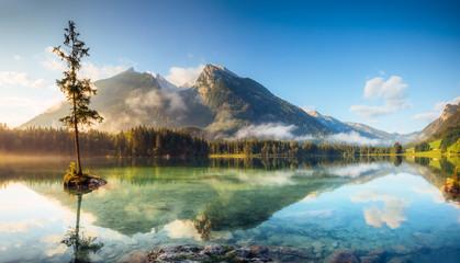 Wall Mural - beautiful alpine lake