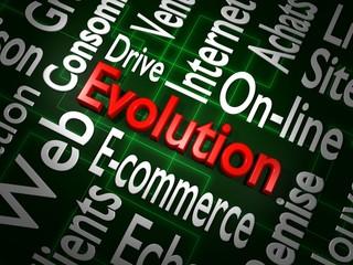 Illustration 3D de l'évolution du commerce