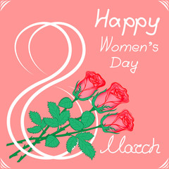 greeting card on March 8