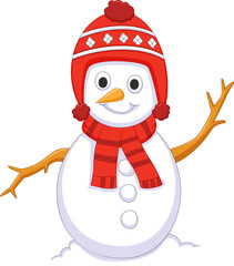 cute snowman cartoon for you design