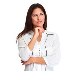 Thinking woman portrait
