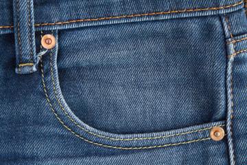 Denim pocket Seam close up