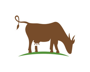 Cow logo template
