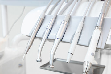 Dental instruments in dental office