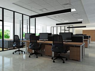 Интерьер современного офиса рабочая зона