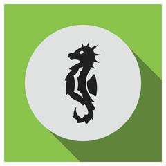 Seahorse vector icon