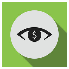 Dollar eye vector icon