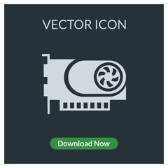 Graphic card vector icon