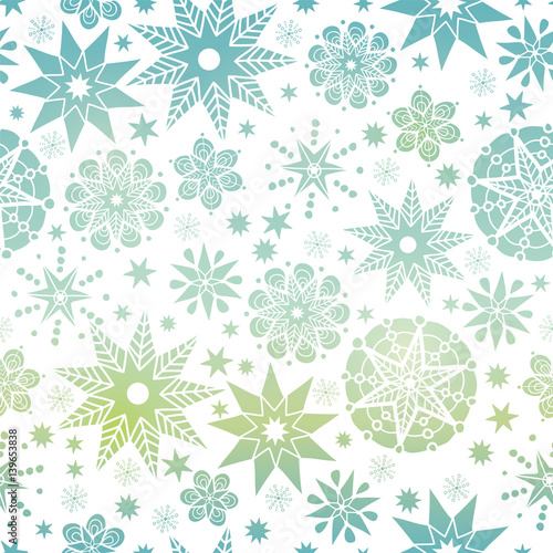 Vector Blue Gradient Abstract Doodle Stars Seamless Pattern Background Great For Elegant Texture Fabric