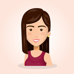 young woman lifestyle avatar vector illustration design