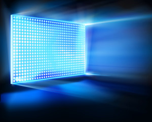 Virtual led projection screen. Vector illustration.