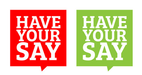 Image result for have your say poster