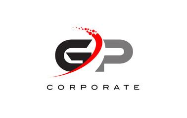 GP Modern Letter Logo Design with Swoosh