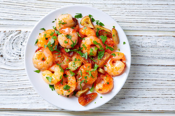 Garlic shrimp pinchos tapas from Spain