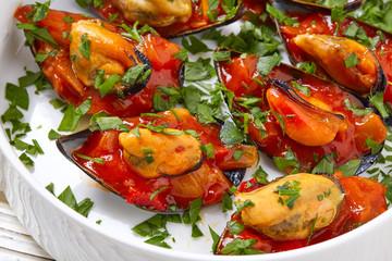 mussels with marinara sauce tapas pinchos