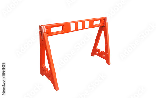 Quot orange plastic traffic barriers photo libre de droits