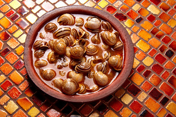 Tapas snail recipe from Spain