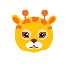 Giraffe Animal Carnival Mask. Childish Masquerade