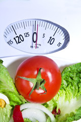 tomato salad and scale