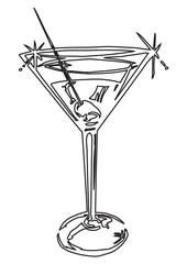 Martini Glass Stroke Picture