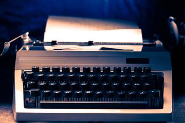 Old typewriter with latin alphabet