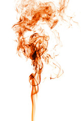 Wall Mural - movement of orange smoke