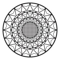Circular pattern, geometric ornament, vector design