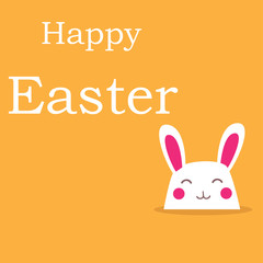 Vector - Happy Easter Rabbit Bunny