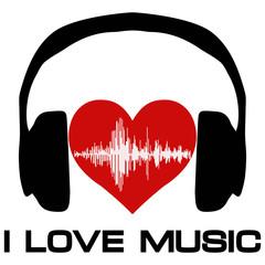 I love music, vinyl cover for a music fan
