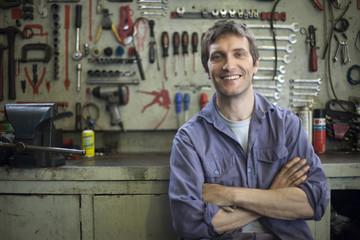 Mechanic, portrait