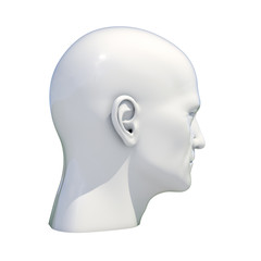Mannequin Dummy Head Isolated