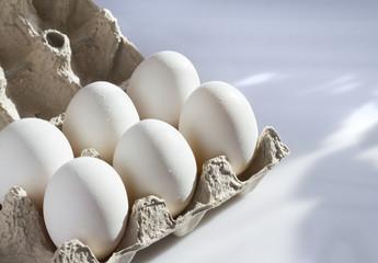 White Eggs In A Carton