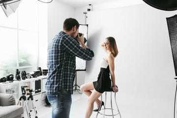 Photo shooting at the studio