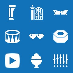 Set of 9 design filled icons