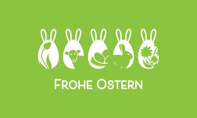 Ostern Icon Eier - Ohren (Grün)