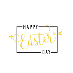 Happy Easter Day Inscription in Frame