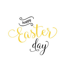 Happy Easter Day Lettering and Curls