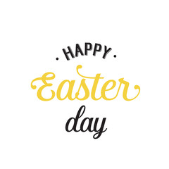 Happy Easter Day Lettering With Dots
