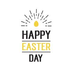 Happy Easter Day Lettering, Egg, Underline