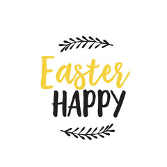 Happy Easter Lettering and Twigs