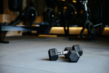 Photo of dumbbells in gym
